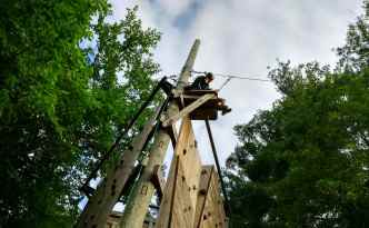 Zip Line in Camp Ramah in the Berkshires