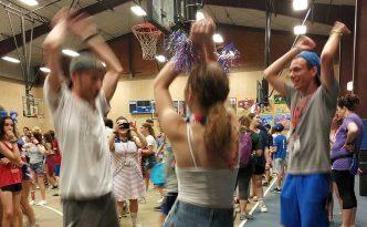 Campers dancing at concert